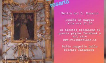 Diretta streaming S. Rosario 25 maggio